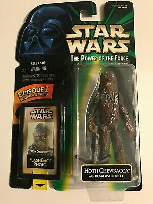 Star Wars Power of the Force HOTH CHEWBACCA Ep 1 Flashback Hasbro New Loose