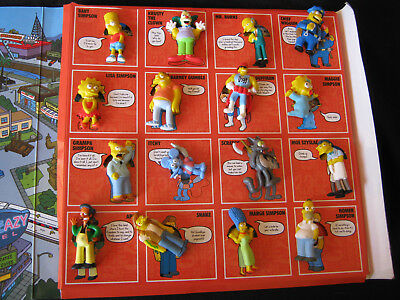 """The Simpsons Characters Album Complete With 16 """"Stick 'Ems"""", 2009"""