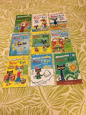 Pete The Cat I Can Read! 9 Book Lot My First Pre Level 1 Childrens Readers Lot