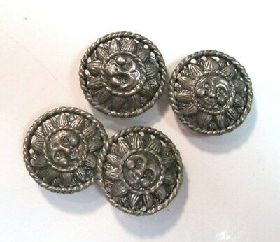 # 1 - Set Four  VINTAGE Hand Made  Button Covers - 1950 - 60's