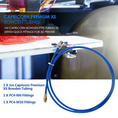 1m Capricorn Bowden PTFE Tubing XS Series+Quick Fittings for 3D Printer