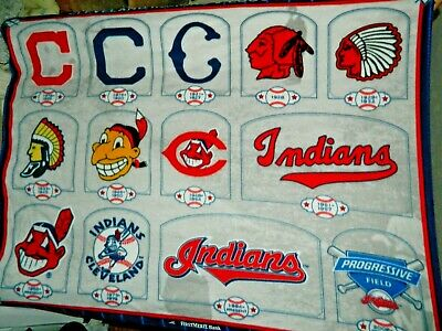 Cleveland Indians Chief Wahoo Blanket Baseball Retired Logos History of Mascots