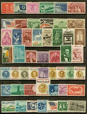 Set Of 50 Stamps -1957 - 1959 - 3 Years Of Commemorative Stamps - Og - Nh - Mint