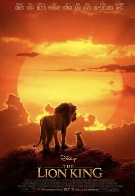 The Lion King Blu Ray ONLY with case And artwork - 2019 Disney Live Action