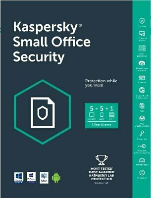 Kaspersky Small Office Security 1 Server 5 PC 5 Device 1 Anno - Fatturabile