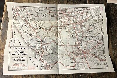 "1939 Map General Grant & Sequoia National Parks 18"" X 13"""