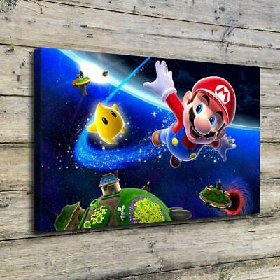 """12""""x20""""Super Mario HD Canvas Prints Painting Home Decor Picture Wall Art Poster"""