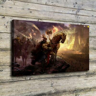 Castle Warriors HD Canvas Print Painting Home Decor Picture Room Wall Art Poster
