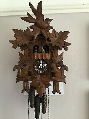German Regula Musical carved Cuckoo Clock ~ Squirrel Decoration ~Working Order