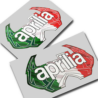 Aprilia Italian Lions Motorcycle graphics stickers decals x 2PCS small