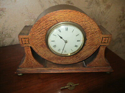 art deco solid walnut french mantle clock fully restored c1930