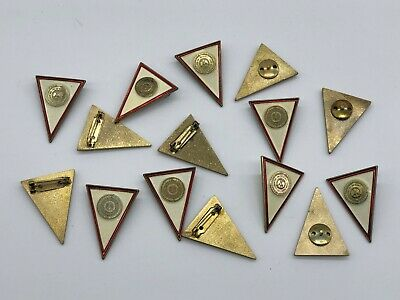 Vintage East German Officer Military Academy Badges lot of 15, 2 type-Unissued