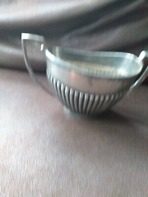 Antique Collectable Edwardian Silver Plated Creamer Sugar Bowl In A Queen...