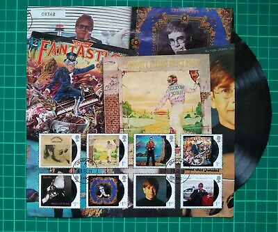 2019 Music Giants Elton John Album Cover Collector Sheet Used