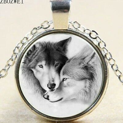 collar 30mm camafeo vintage steampunk lobo wolf bronze picture pendant