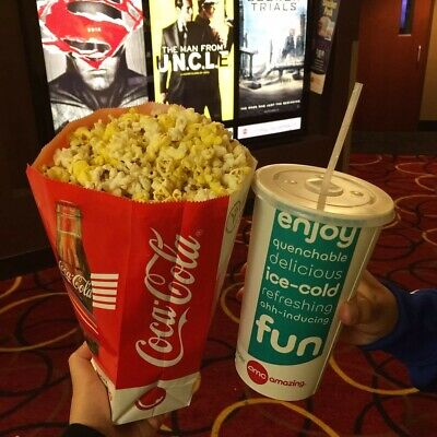 AMC Theaters Large Drink & Large Popcorn Voucher exp 6/20 Quick Delivery