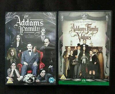 """""""The Addams Family"""" / """"Addams Family Values"""" USED DVD's (See Description)"""