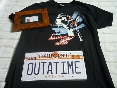 Geek gear Tshirt M back to the future Bundle Lot Outatime license plate + driver