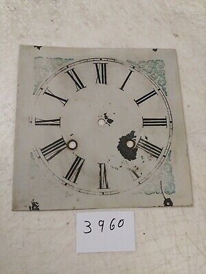 Antique Waterbury Ogee Clock Metal Dial From 30 Hour Movement
