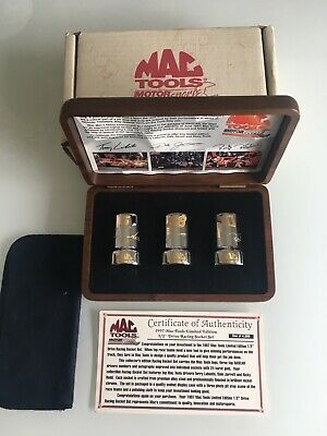 Mac Tools Limited Edition Gold Filled 3 Piece Socket Set 1997