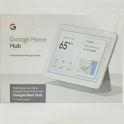 Google Home Hub with Google Assistant - Chalk Model GA00516-US - New in Box