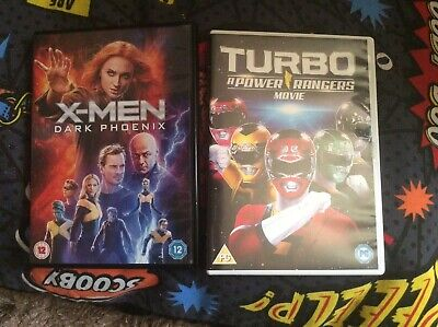 DVD marvel X-Men Dark Phoenix 2019 & Turbo A power rangers movie 1997 22 yrs old