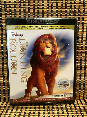 The Lion King: Signature Ed 4K (2-Disc Blu-ray, 2019)Disney Classic.French Cover