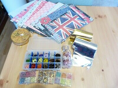 Complete craftroom clearout - pk 8 - foils, card kit, eyelets & stamps