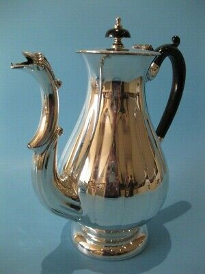 Stunning High Quality Antique Silver Plated Regency Style Tall Coffee Pot