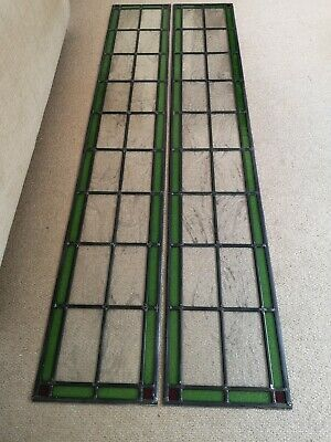 Stained glass panels 4 x parts. Age unknown, could suit Edwardian style.