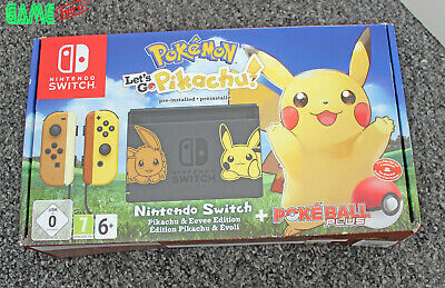 *No Console* Nintendo Switch Box Packaging Only Pokemon Let's Go Pikachu Eevee