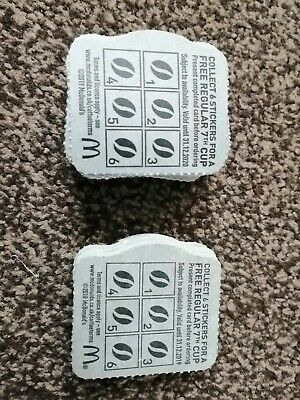 McDonald's Blank Coffee Hot Drink Cards Loyalty Vouchers x50 - EMPTY NO STICKERS