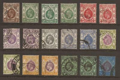 HONG KONG KING GEORGE V Collection of 18 Used (JB9291)
