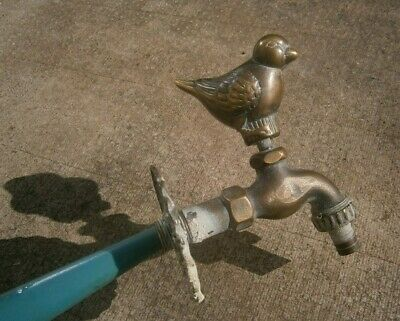 🌟 VINTAGE Brass Garden Tap  Bird Spigot  Home Yard Outdoor 🌟