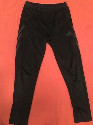 Black Mens Adidas Climalite Tracksuit Bottoms Sports Pants Gym Joggers Size YXL