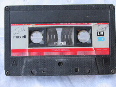 Maxell  UR 90  1985 Type I  SILVER LABEL RED STRIPE  Blank Cassette Tape RARE