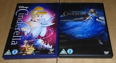 Cinderella Collection (DVD) Animated 1950 & Live Action 2015 - Disney