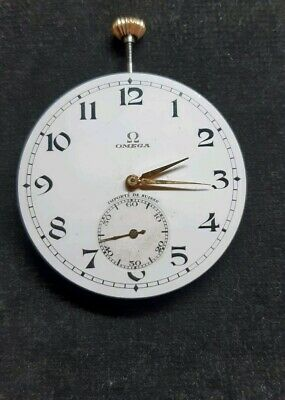 Omega Pocket Watch Movement Im Working Condition