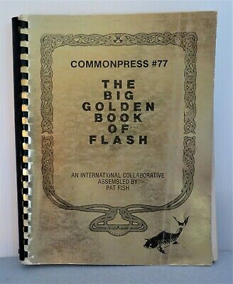 VTG The Big Golden Book of Flash Autographed by Pat Fish Tattoo 150 Plus Pages