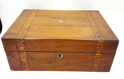 George III period Tunbridge Ware  and mother of pearl inlay Rosewood box.