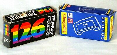 Instamatic 126 Films Expired  Two new cartridges sealed in foil. Lot of 2.