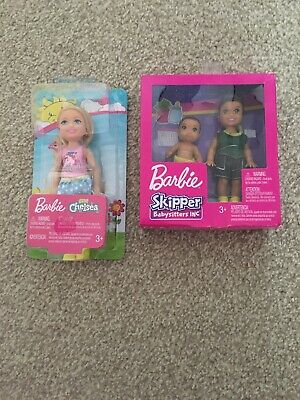 Barbie Skipper Babysitters Sibling Toddler & Baby Doll & Barbie Chelsea Doll NEW
