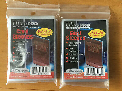 200 Ultra Pro Standard Penny Soft Card Sleeves New Acid Free No PVC