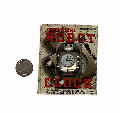 Solid Metal Robot Clock Vintage *NIB* Quartz Movement, Second Hand