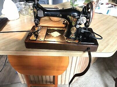 Vintage Electric Singer Sewing Machine Model 128 w/Case 1924 - Working order