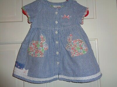Next Girls Bunny Rabbit Dress - 0-3 Months
