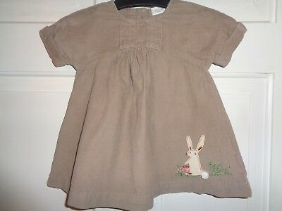 Next Girls Corduroy Bunny Rabbit Tunic Dress - 3-6 Months