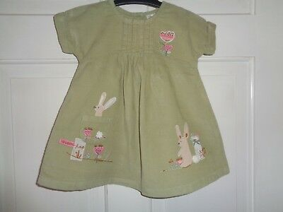 Next Girls Corduroy Bunny Rabbit Dress - 3-6 Months