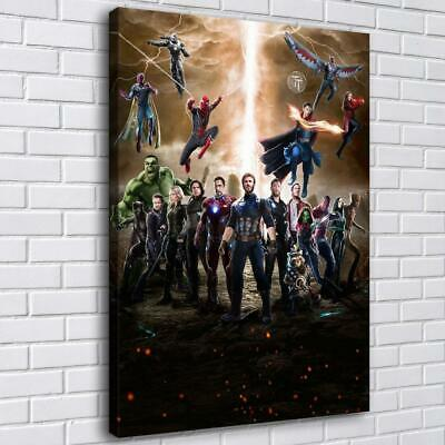 "12""x16""Avengers Poster HD Canvas prints Painting Home Decor Picture Wall art"