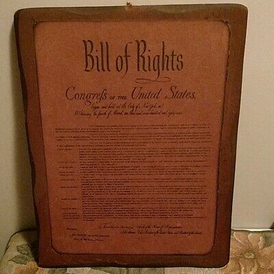"""Vintage Bill of Rights Plaque 14.5"""" x 11 1/4"""""""